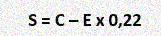 Формула вычисления величины субсидии на оплату ЖКУ представляет собой: